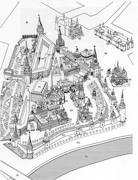 план Московского Кремля