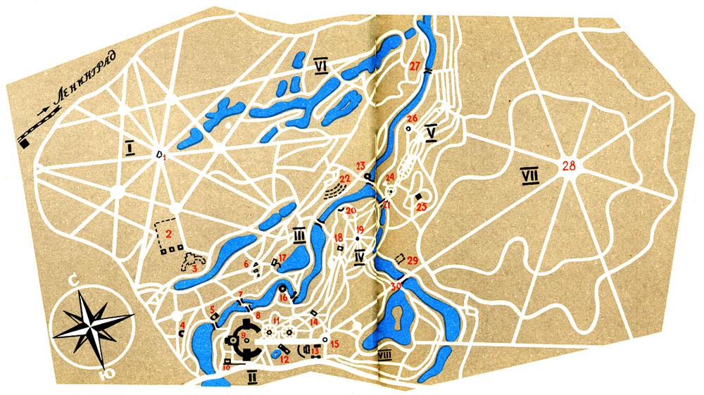 План Павловского парка
