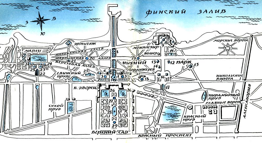 План Нижнего парка и Верхнего